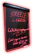 Neon Writer Notice and Menu Board
